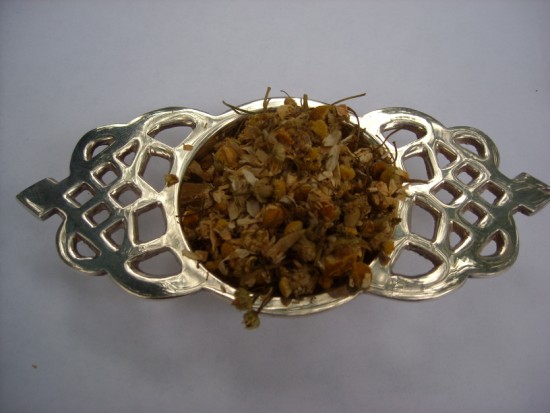 Egyptian Chamomile Herbal Tea - Very aromatic with a fruity tending floral flavor.  Makes a great bedtime tea!